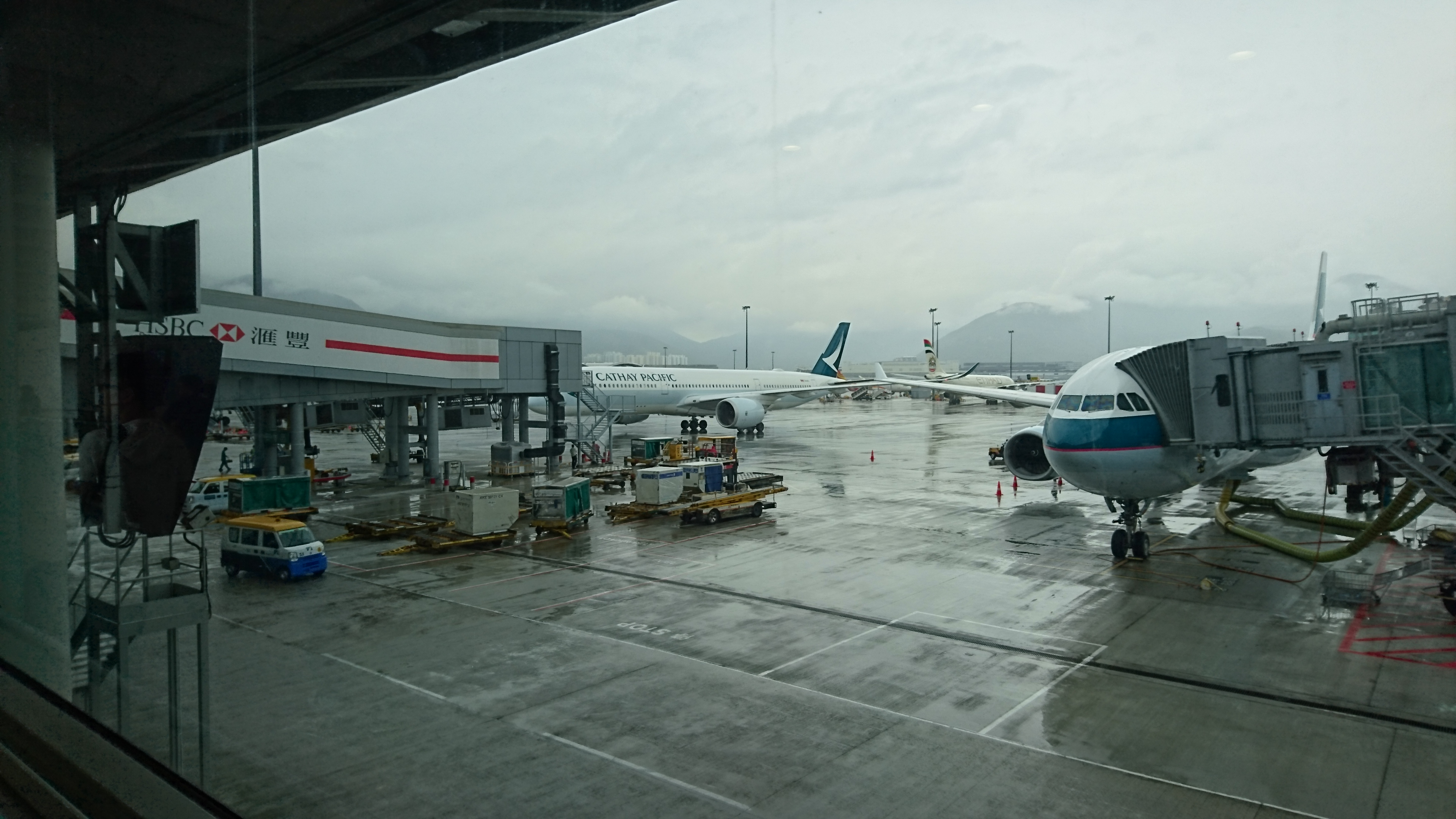 香港は雨でした